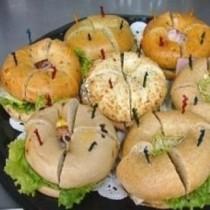 Bite-Size Bagel Sandwiches