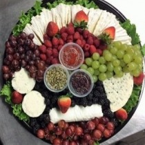 Premium Soft Cheese Platter with Berries