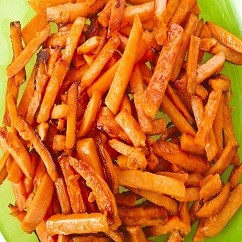 Baked Organic Sweet Potato Fries