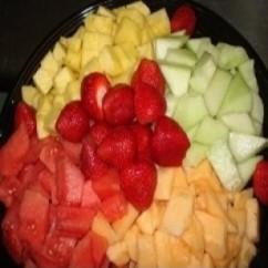 Cubed Fruit Platter